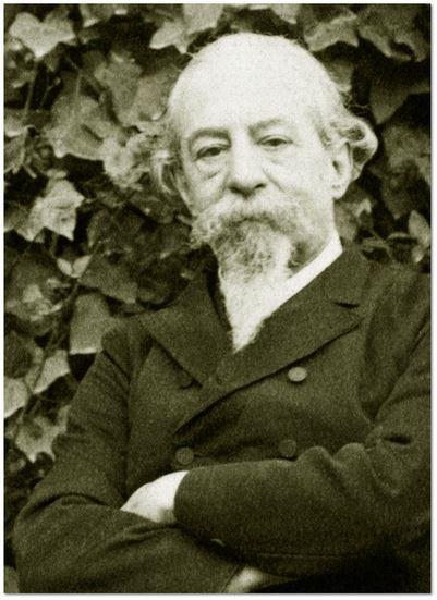 Detalle de la Fotografía ES.47186.AMVA/CZ//CZ S 36. Fotografía. José Zorrilla sentado en un jardín. 3 enero de 1889