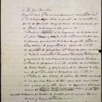 Carta de Juan Devincentis, Secretario del Gabinete Civil del Emperador de México, a José Zorrilla y borrador de la contestación de éste