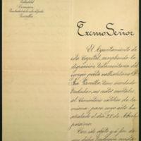 Carta de Ramón Pardo al presidente del Consejo de Ministros [Antonio Cánovas del Castillo]