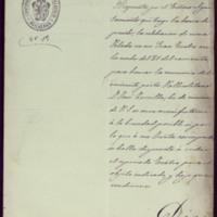 Carta de José de Hornedo Huidobro, alcalde de Valladolid, al presidente de la Sociedad Constructora del Teatro Calderón de la Barca de Valladolid [Juan Herrero Olea]