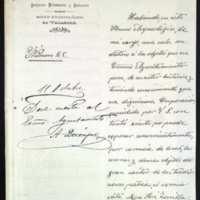 Carta de Luis Pérez Rubín, director del Museo Arqueológico de Valladolid, al alcalde de Valladolid [Alfredo Queipo de Llano]