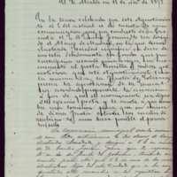Minuta de carta del alcalde de Valladolid [Moisés Carballo] a Gaspar Núñez de Arce y Emilio Ferrari