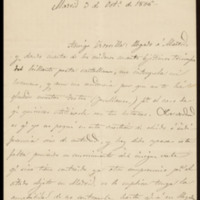 Carta de Juan Catalina a José Zorrilla