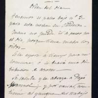 Carta de José Zorrilla a Joaquina Mateo e Ibarra, sobre una representación teatral