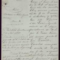 Comunicación de Calixto Pascual Barreda al alcalde José de Hornedo Huidobro