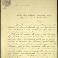Carta del conde de las Infantas al alcalde de Valladolid [Marcelino de la Mota Velarde]