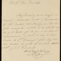 Carta de la duquesa viuda de Gor a José Zorrilla