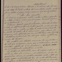 Copia de comunicación de Pedro Vaquero Concellón, alcalde de Valladolid, a los vecinos de la ciudad