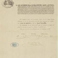 Título de socio de mérito del Liceo de La Habana a favor de José Zorrilla