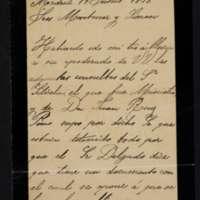 Carta certificada de Juana Pacheco a los señores Montaner y Simón