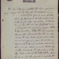 Certificación de la partida de matrimonio de José Zorrilla con Juana Pacheco