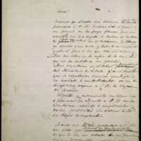 Borrador de carta de José Zorrilla a Alfonso XII