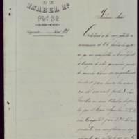 Carta de Joaquín Rodríguez, coronel del Regimiento de Infantería Isabel II nº 32, al alcalde José de Hornedo Huidobro