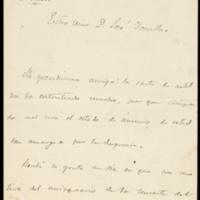 Carta de Gaspar Núñez de Arce a José Zorrilla