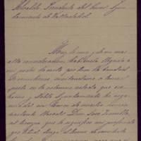 Carta de Francisco González Torres al alcalde José de Hornedo Huidobro