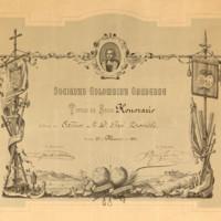 Título de socio honorario de la Sociedad Colombina Onubense a favor de José Zorrilla
