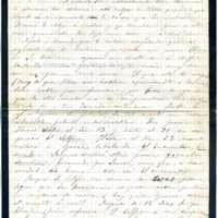 Carta de Valentín Marín y Carbonell a Víctor Balaguer, su tío