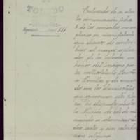 Carta de Leopoldo Roldán, coronel del Regimiento de Infantería Toledo nº 35, al alcalde José de Hornedo Huidobro