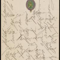 Tarjeta de la condesa de Guaqui dirigida a José Zorrilla
