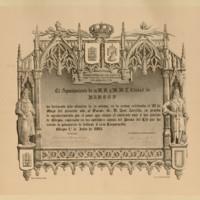 Título de hijo adoptivo de la ciudad de Burgos, expedido por su Ayuntamiento a favor de José Zorrilla
