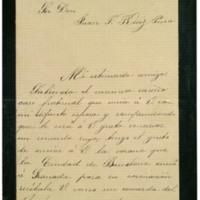 Carta de Juana Pacheco a Juan Ruiz Pino