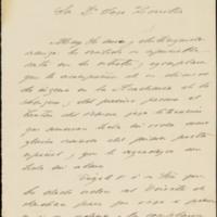 Carta de Ramiro Velarde, alcalde de Valladolid, a José Zorrilla