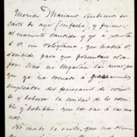 Carta de José Zorrilla a Mariano Fernández Cubas