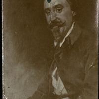 Fotografía del retrato de Joaquín Massard, amigo personal de Zorrilla, que hizo el pintor italiano Domenico Morelli.