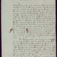 Minuta de carta de Pedro Vaquero Concellón, alcalde de Valladolid, a Antonio Cánovas del Castillo