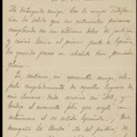 Carta de Carolina Civili de Palau a José Zorrilla