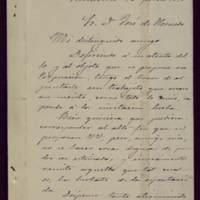 Carta de Juan García Ortega al alcalde José de Hornedo Huidobro