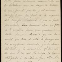 Carta de Federico Cejudo a José Zorrilla