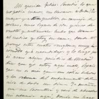 Carta de José Zorrilla a Felisa de la Peña