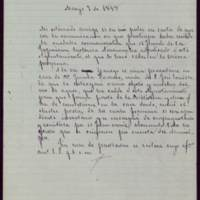 Minuta de carta del alcalde José de Hornedo Huidobro a Calixto Pascual Barreda