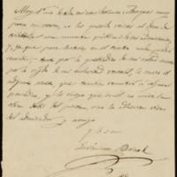 Carta de Jerónimo Borao a José Zorrilla