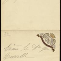 Billete de la Condesa de Guaqui a José Zorrilla