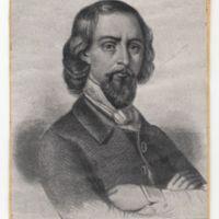 Don José Zorrilla (a los treinta años) Poeta oficial en la Corte de Maximiliano I de Méjico, y casi poeta nacional de España