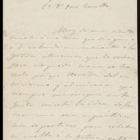 Carta de Faustina Sáez de Melgar a José Zorrilla