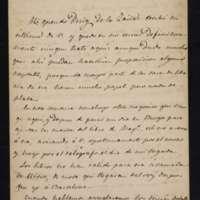 Carta de José Zorrilla a José Puig y Llagostera
