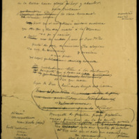 """Fragmentos del poema """"Nochebuena"""" (""""Nochebuena - 24 Diciembre - Borradores"""")."""