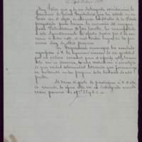 Minuta de carta del alcalde José de Hornedo Huidobro a Segismundo Moret y Prendergast, ministro de Fomento