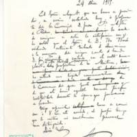 Borradores de dos cartas a ivo Bosch y a Huberto Meersmans
