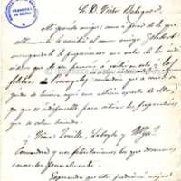 Carta de Girbal Ferrer a Víctor Balaguer