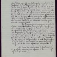 Minuta de carta del alcalde José de Hornedo Huidobro a Mariano Puig Samper, oficial de la secretaría del ministerio de Hacienda