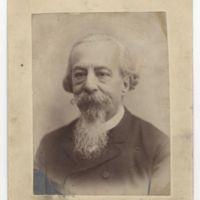 El poeta, en 1889, cuando fue coronado en Granada