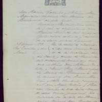Certificación de la partida de defunción de José Zorrilla