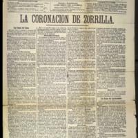 La coronación de Zorrilla