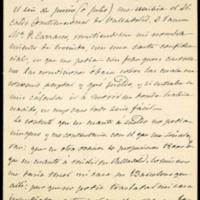 Carta de José Zorrilla a Juan Ruiz Pino