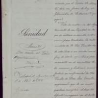 Notificación de Demetrio A. Castrillo, subsecretario de Sanidad, al alcalde José de Hornedo Huidobro