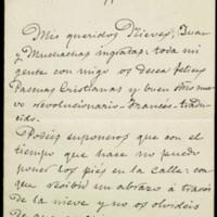 Carta de José Zorrilla a Juan Ruiz Pino y a su esposa Nieves